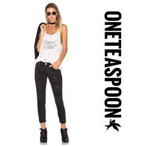 One Teaspoon Freebirds Jeans in Black Van Zip
